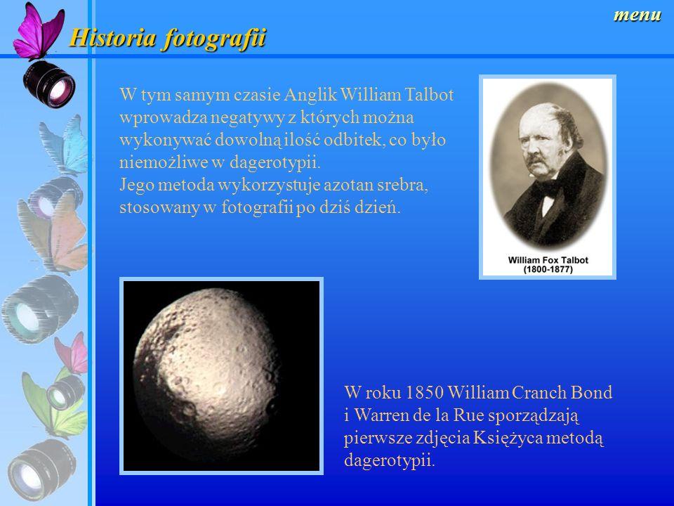 Historia fotografii menu W tym samym roku Niepce nawiązuje współpracę z Louisem Jacquesem Daguerreem i wspólnie rozpoczynają badania nad kondensowanie