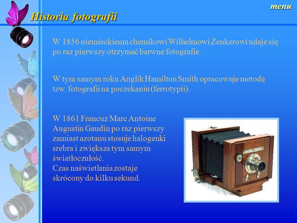 Historia fotografii menu W roku 1850 angielski optyk John Benjamin Dancer wykonuje pierwszy mikrofilm. Pierwszy teleobiektyw zostaje zbudowany w 1851
