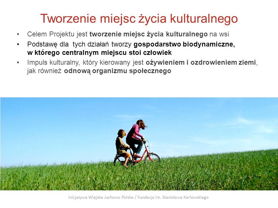 Tworzenie miejsc życia kulturalnego Celem Projektu jest tworzenie miejsc życia kulturalnego na wsi Podstawę dla tych działań tworzy gospodarstwo biody