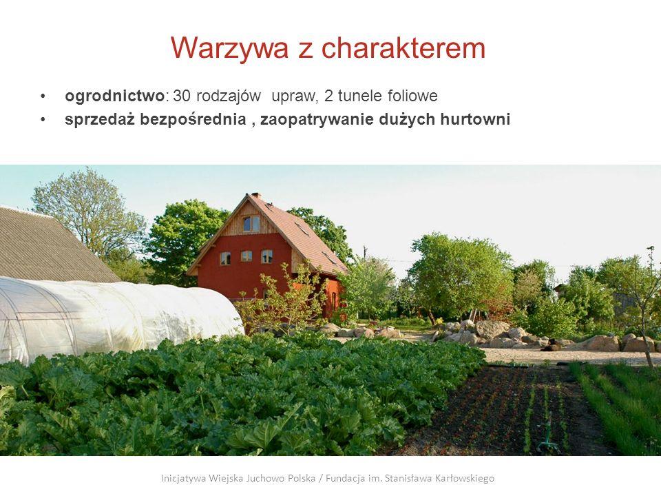 Warzywa z charakterem ogrodnictwo: 30 rodzajów upraw, 2 tunele foliowe sprzedaż bezpośrednia, zaopatrywanie dużych hurtowni Inicjatywa Wiejska Juchowo