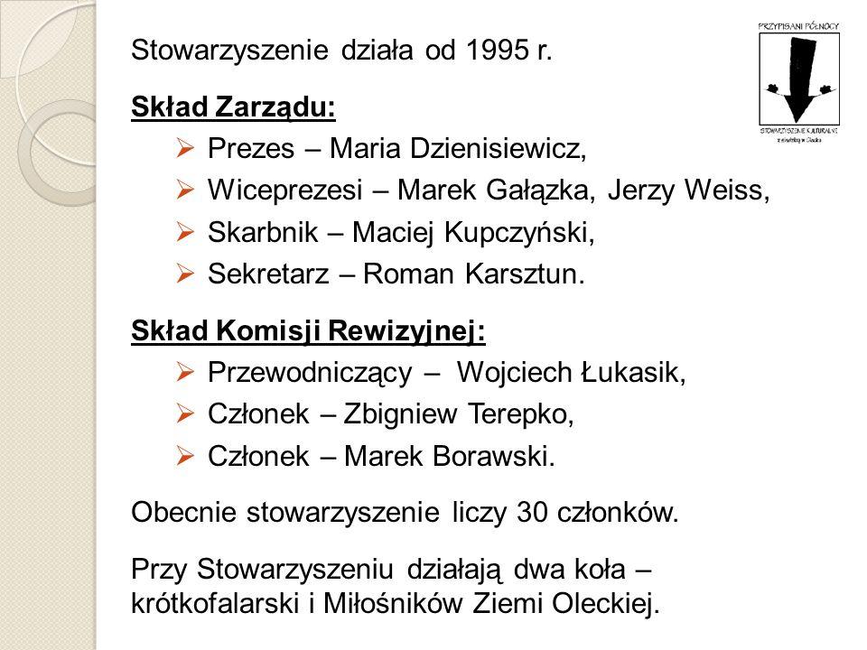 Stowarzyszenie działa od 1995 r. Skład Zarządu: Prezes – Maria Dzienisiewicz, Wiceprezesi – Marek Gałązka, Jerzy Weiss, Skarbnik – Maciej Kupczyński,