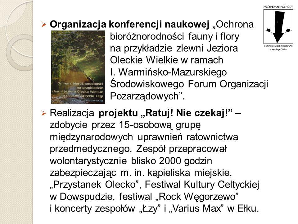 Organizacja konferencji naukowej Ochrona bioróżnorodności fauny i flory na przykładzie zlewni Jeziora Oleckie Wielkie w ramach I. Warmińsko-Mazurskieg