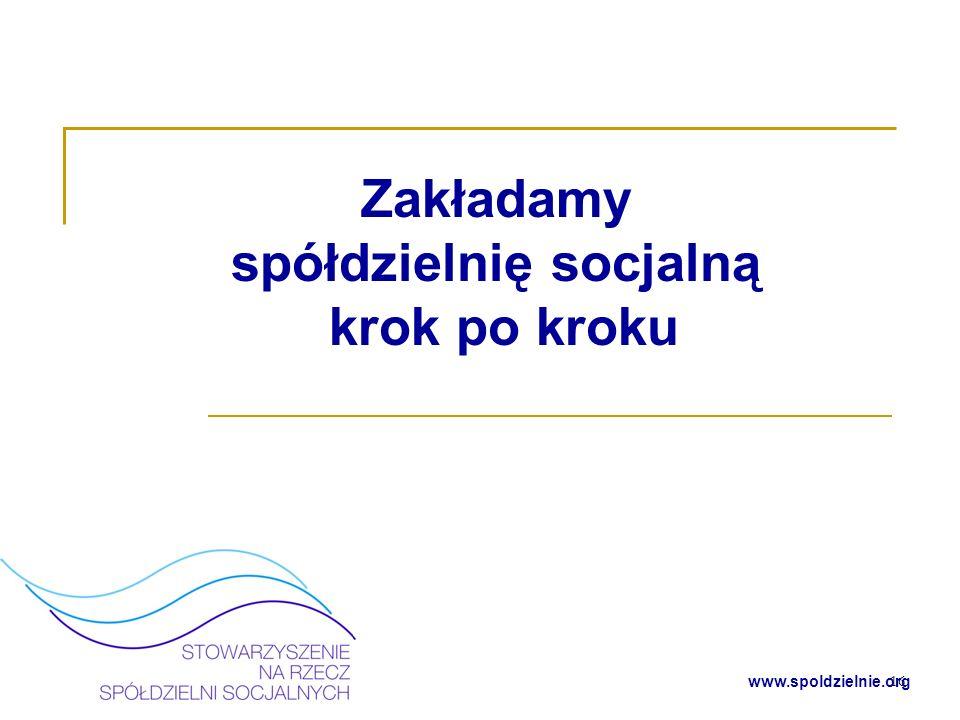 www.spoldzielnie.org Decyzja o podjęciu działalności Co chcemy robić.