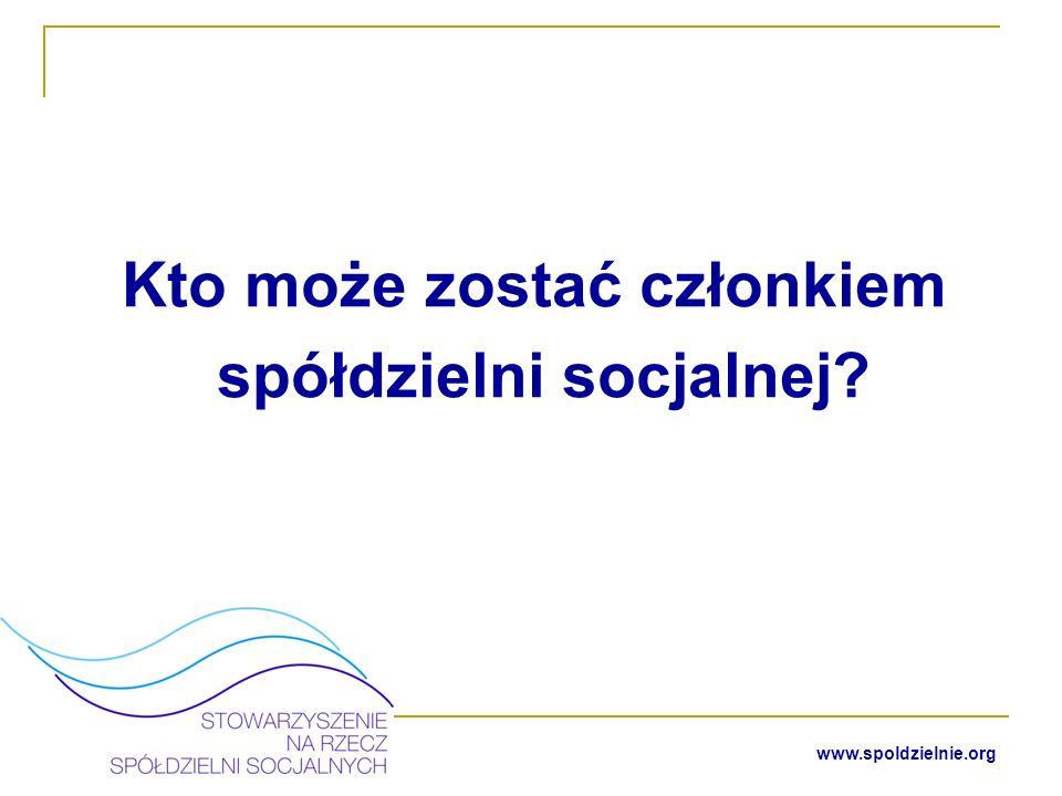 www.spoldzielnie.org Osoba Bezrobotna w rozumieniu art.
