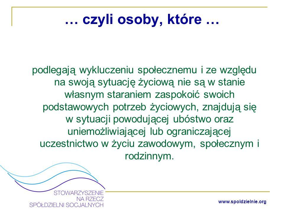 www.spoldzielnie.org Osoby niepełnosprawne w rozumieniu ustawy z dnia 27 sierpnia 1997 r.