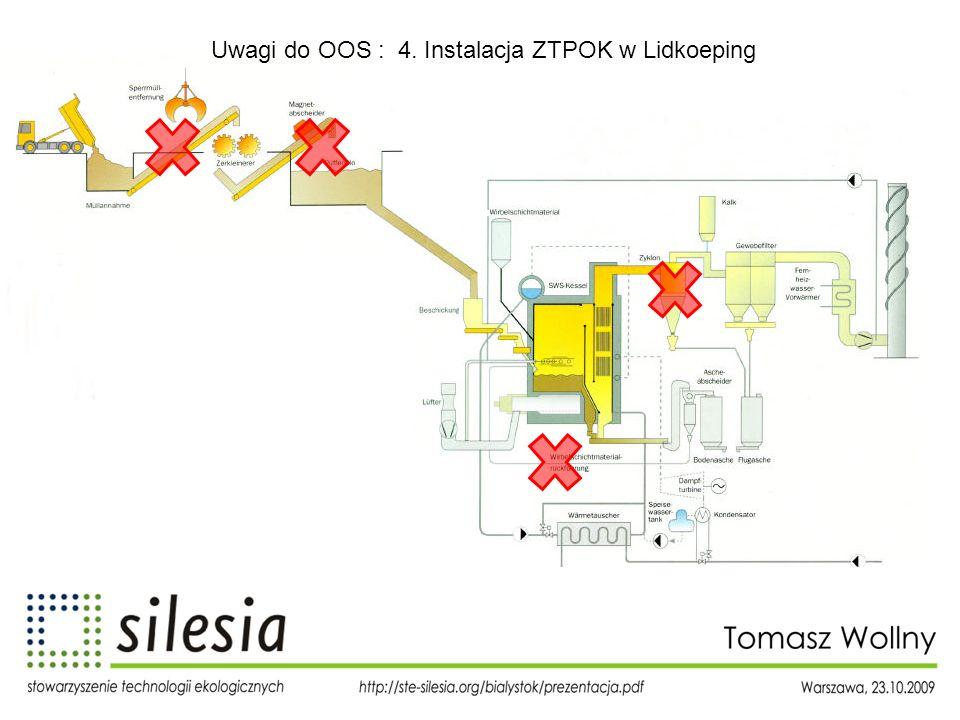 Uwagi do OOS : 4. Instalacja ZTPOK w Lidkoeping