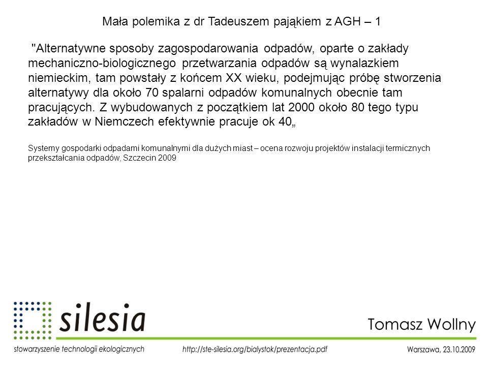 Mała polemika z dr Tadeuszem pająkiem z AGH – 1