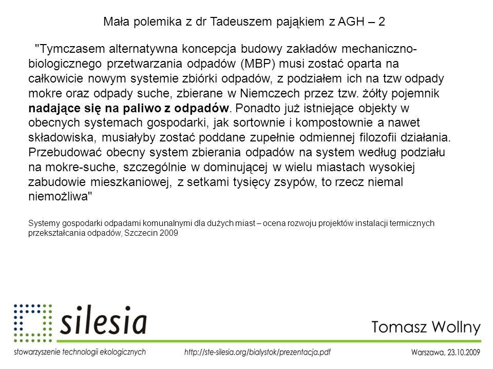 Mała polemika z dr Tadeuszem pająkiem z AGH – 2