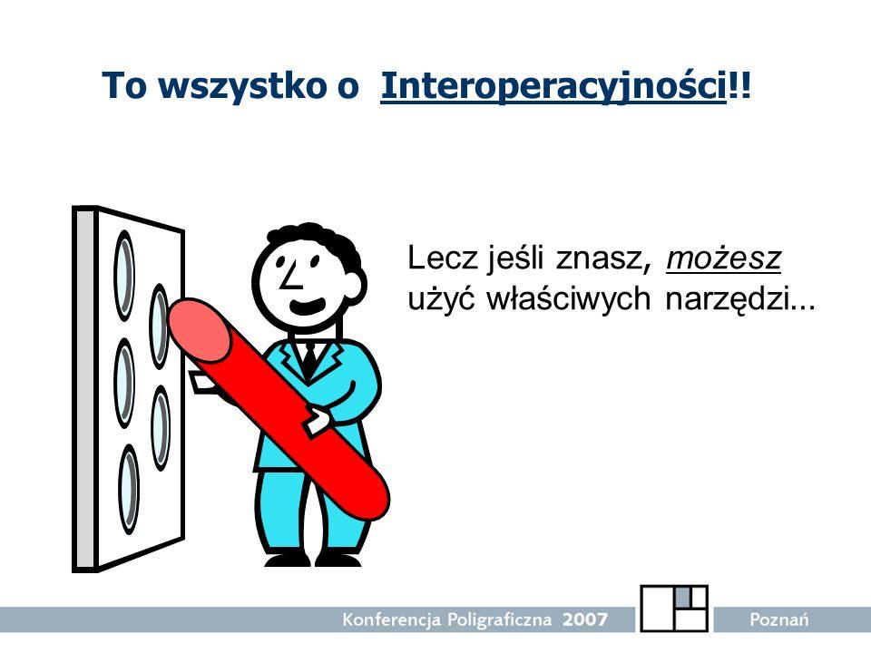 To wszystko o Interoperacyjności!! Lecz jeśli znasz, możesz użyć właściwych narzędzi …