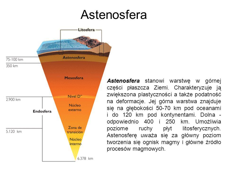 Astenosfera Astenosfera Astenosfera stanowi warstwę w górnej części płaszcza Ziemi. Charakteryzuje ją zwiększona plastyczności a także podatność na de