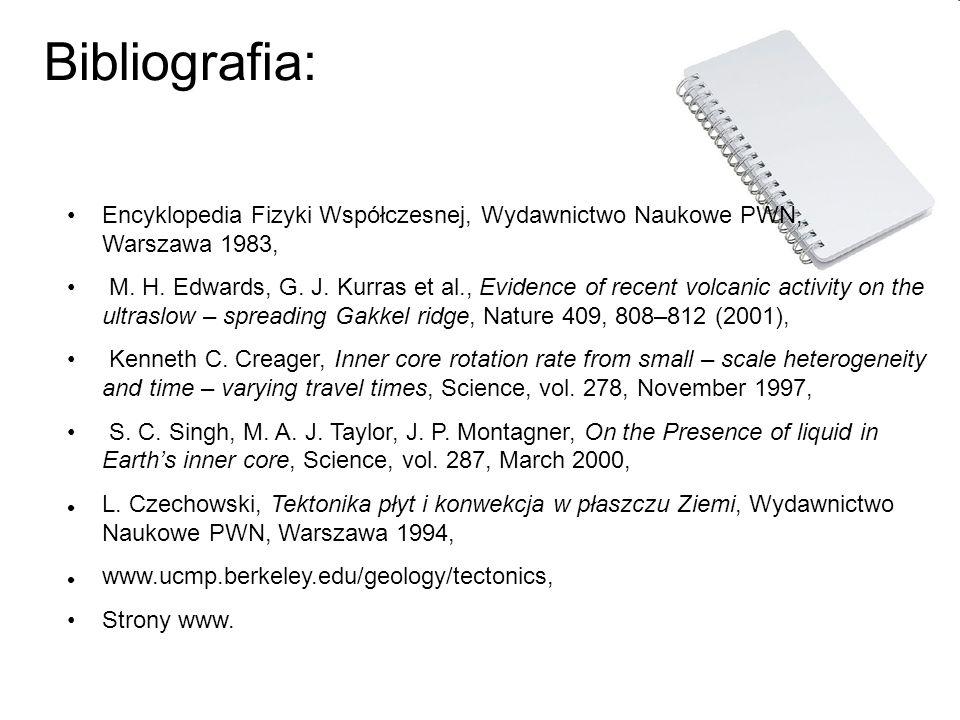 Bibliografia: Encyklopedia Fizyki Współczesnej, Wydawnictwo Naukowe PWN, Warszawa 1983, M. H. Edwards, G. J. Kurras et al., Evidence of recent volcani