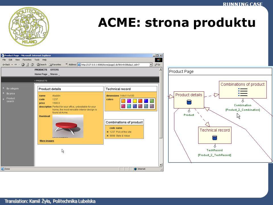 RUNNING CASE ACME: strona produktu Translation: Kamil Żyła, Politechnika Lubelska