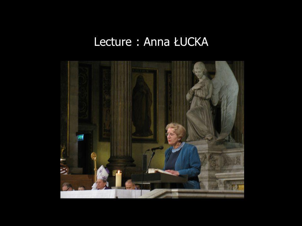 Lecture : Anna ŁUCKA
