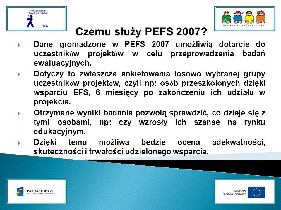 Czemu służy PEFS 2007.
