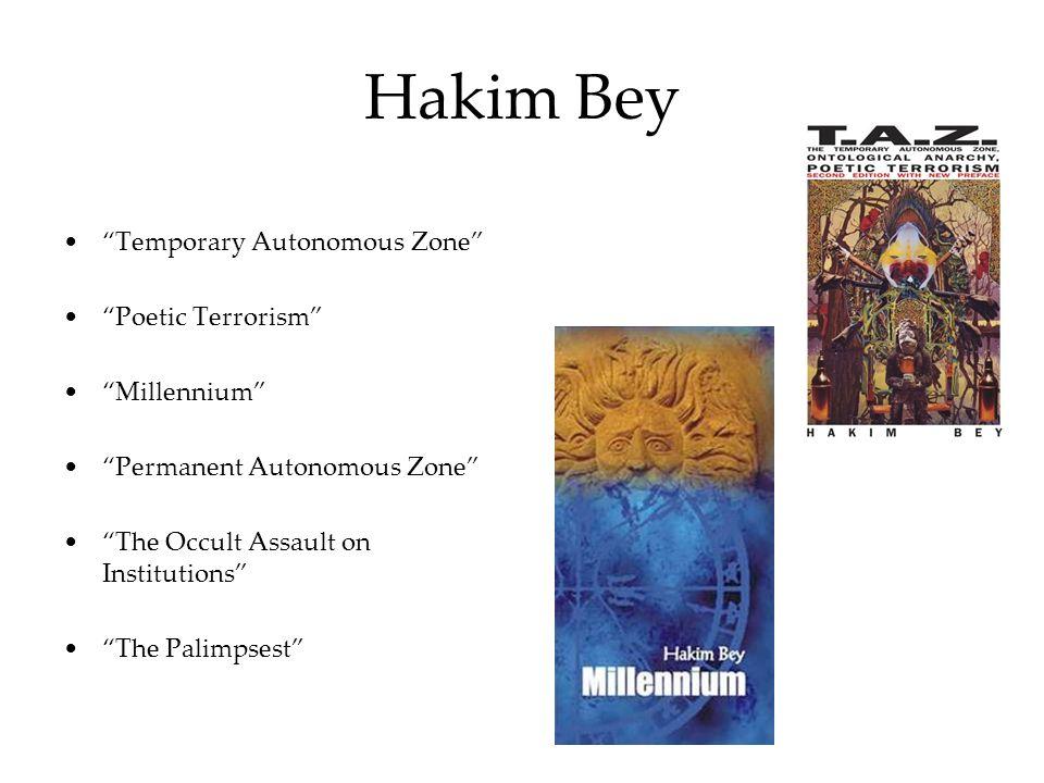Hakim Bey Temporary Autonomous Zone Poetic Terrorism Millennium Permanent Autonomous Zone The Occult Assault on Institutions The Palimpsest