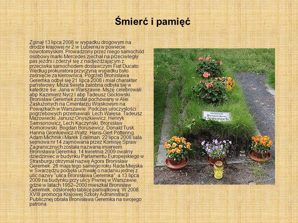 Śmierć i pamięć Zginął 13 lipca 2008 w wypadku drogowym na drodze krajowej nr 2 w Lubieniu w powiecie nowotomyskim. Prowadzony przez niego samochód os