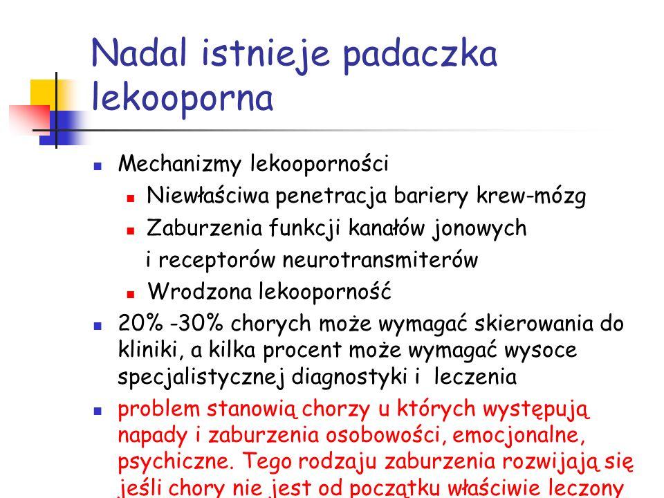 Konsekwencje nieznajomości podstawowych fakt ó w z dziedziny epileptologii Op ó źnienie postawienia rozpoznania Op ó źnienie właściwego leczenia Generowanie koszt ó w leczenia Hospitalizacje Leki często nowej generacji Koszty społeczne