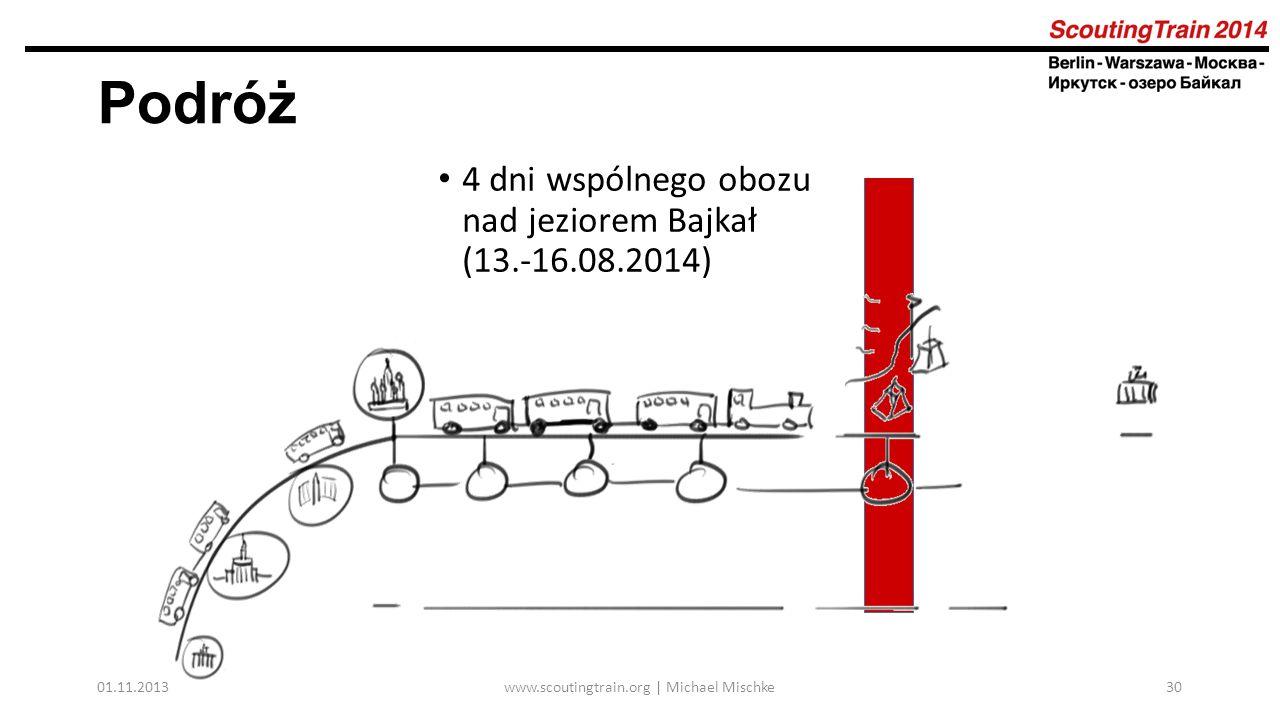01.11.2013www.scoutingtrain.org | Michael Mischke30 Podróż 4 dni wspólnego obozu nad jeziorem Bajkał (13.-16.08.2014)