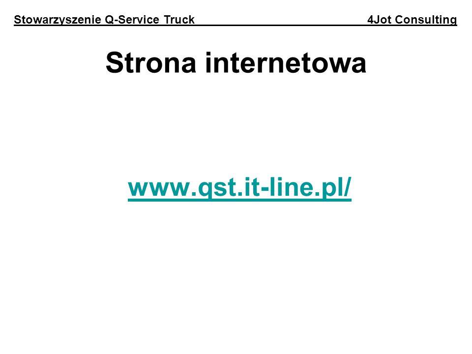 Strona internetowa www.qst.it-line.pl/ Stowarzyszenie Q-Service Truck 4Jot Consulting