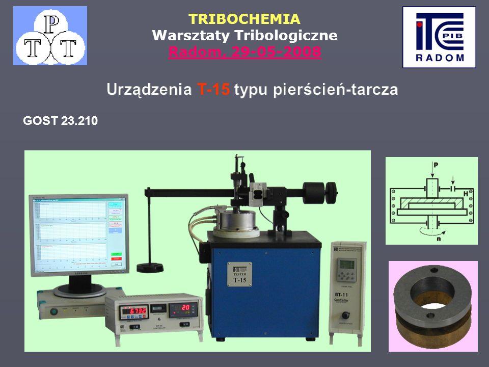 TRIBOCHEMIA Warsztaty Tribologiczne Radom, 29-05-2008 GOST 23.210