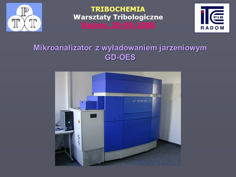 TRIBOCHEMIA Warsztaty Tribologiczne Radom, 29-05-2008 Mikroanalizator z wyładowaniem jarzeniowym GD-OES