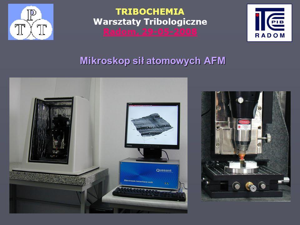 TRIBOCHEMIA Warsztaty Tribologiczne Radom, 29-05-2008 Mikroskop sił atomowych AFM
