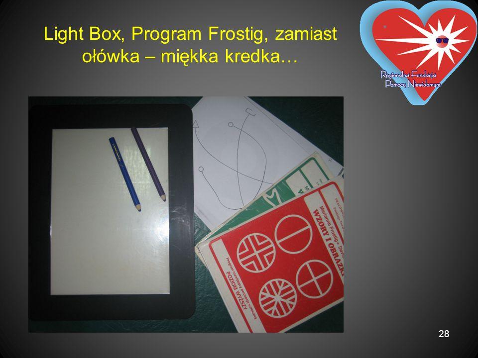 Light Box, Program Frostig, zamiast ołówka – miękka kredka… 28