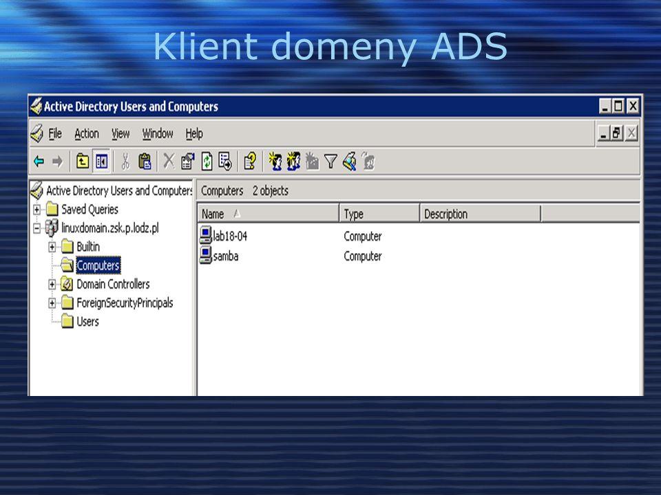 Klient domeny ADS