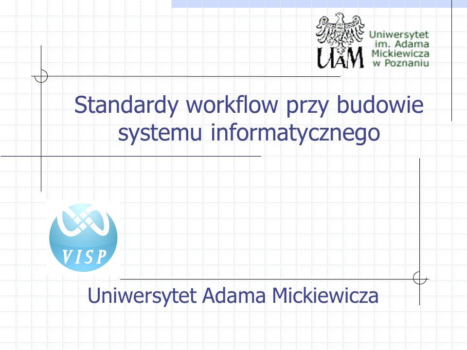 Uniwersytet Adama Mickiewicza Standardy workflow przy budowie systemu informatycznego