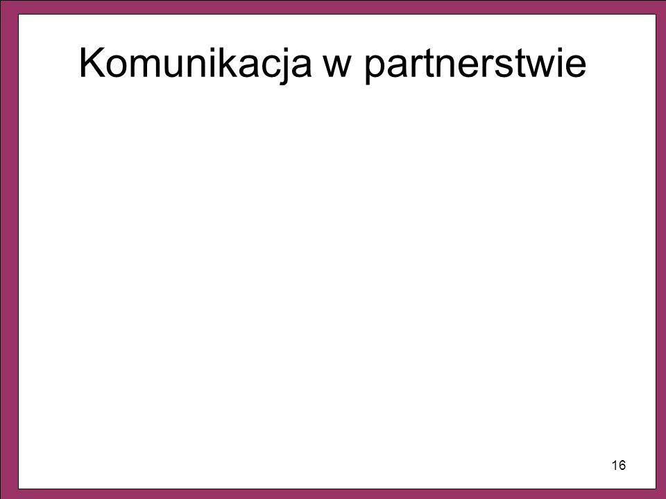 16 Komunikacja w partnerstwie
