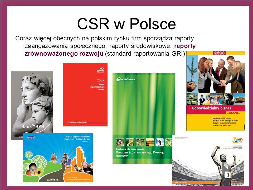5 Coraz więcej obecnych na polskim rynku firm sporządza raporty zaangażowania społecznego, raporty środowiskowe, raporty zrównoważonego rozwoju (stand