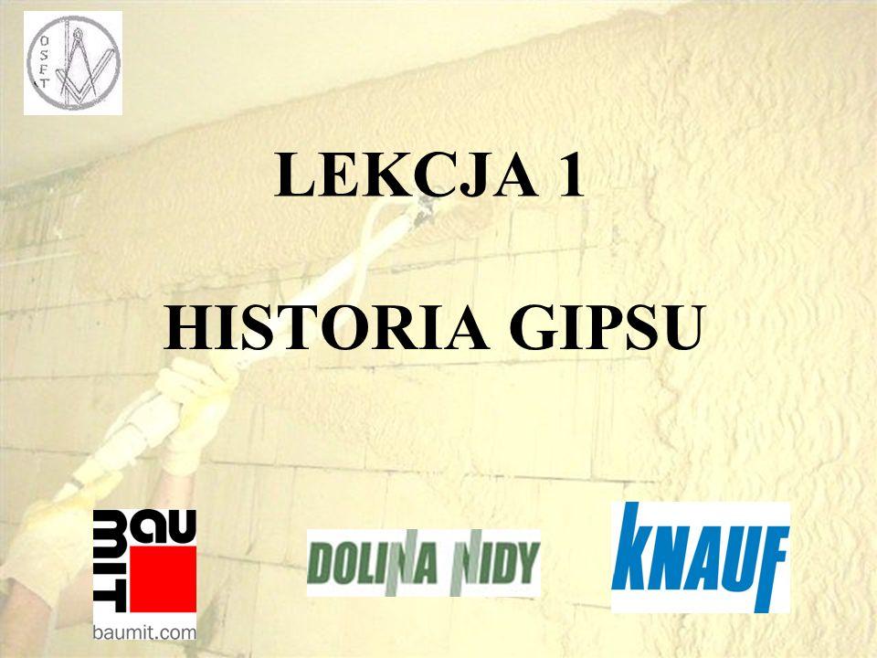 LEKCJA 1 HISTORIA GIPSU