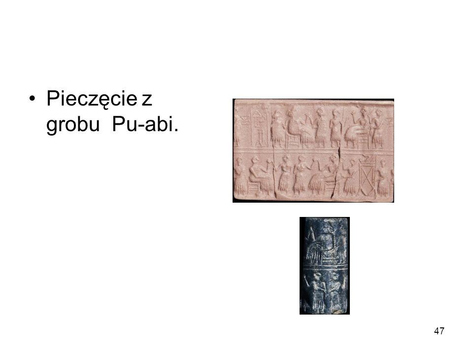 47 Pieczęcie z grobu Pu-abi.