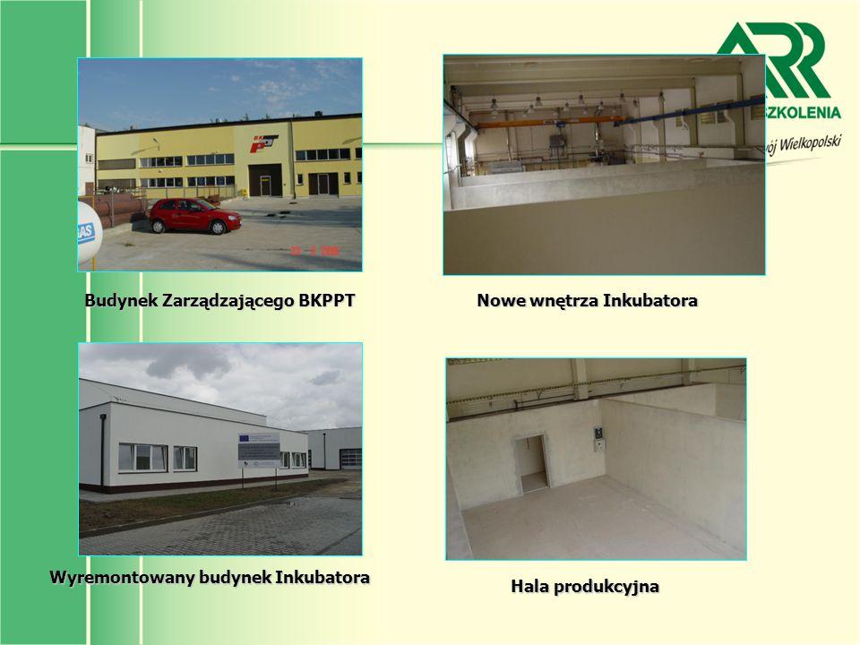 Budynek Zarządzającego BKPPT Nowe wnętrza Inkubatora Hala produkcyjna Wyremontowany budynek Inkubatora