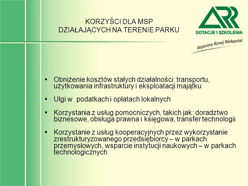 SPODZIEWANE REZULTATY SPO-WKP W OBSZARZE DZIAŁANIA 1.3.