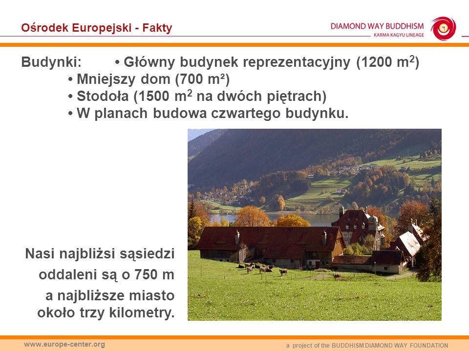 a project of the BUDDHISM DIAMOND WAY FOUNDATION www.europe-center.org Ośrodek Europejski - Fakty Budynki: Główny budynek reprezentacyjny (1200 m 2 )