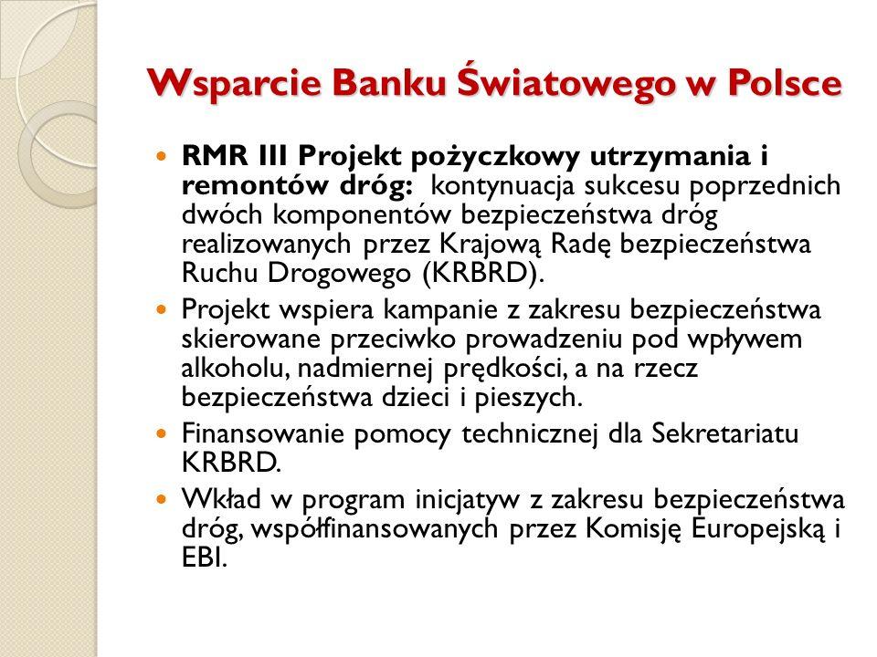 Wsparcie Banku Światowego w Polsce RMR III Projekt pożyczkowy utrzymania i remontów dróg: kontynuacja sukcesu poprzednich dwóch komponentów bezpieczeń