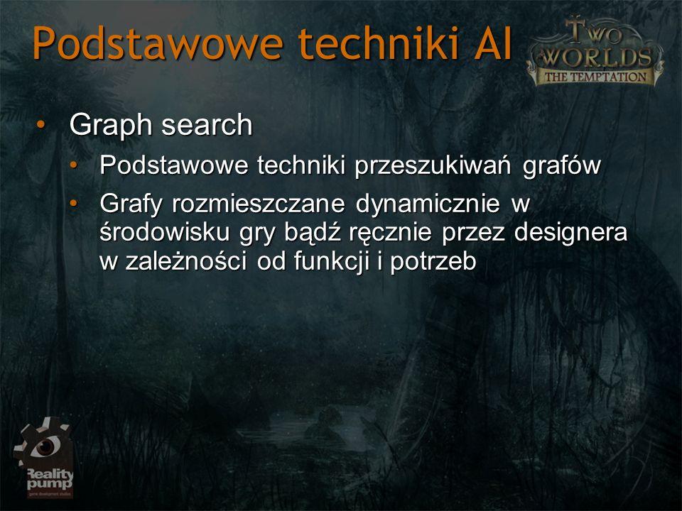 Podstawowe techniki AI Graph searchGraph search Podstawowe techniki przeszukiwań grafówPodstawowe techniki przeszukiwań grafów Grafy rozmieszczane dyn