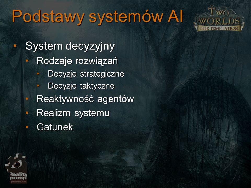 Podstawy systemów AI System decyzyjnySystem decyzyjny Rodzaje rozwiązańRodzaje rozwiązań Decyzje strategiczneDecyzje strategiczne Decyzje taktyczneDec
