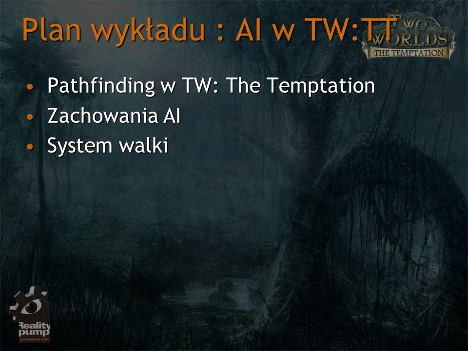Plan wykładu : AI w TW:TT Pathfinding w TW: The TemptationPathfinding w TW: The Temptation Zachowania AIZachowania AI System walkiSystem walki