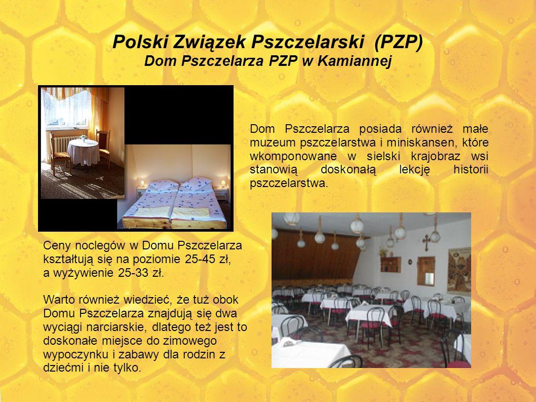 Polski Związek Pszczelarski (PZP) Dom Pszczelarza PZP w Kamiannej Dom Pszczelarza posiada również małe muzeum pszczelarstwa i miniskansen, które wkomp