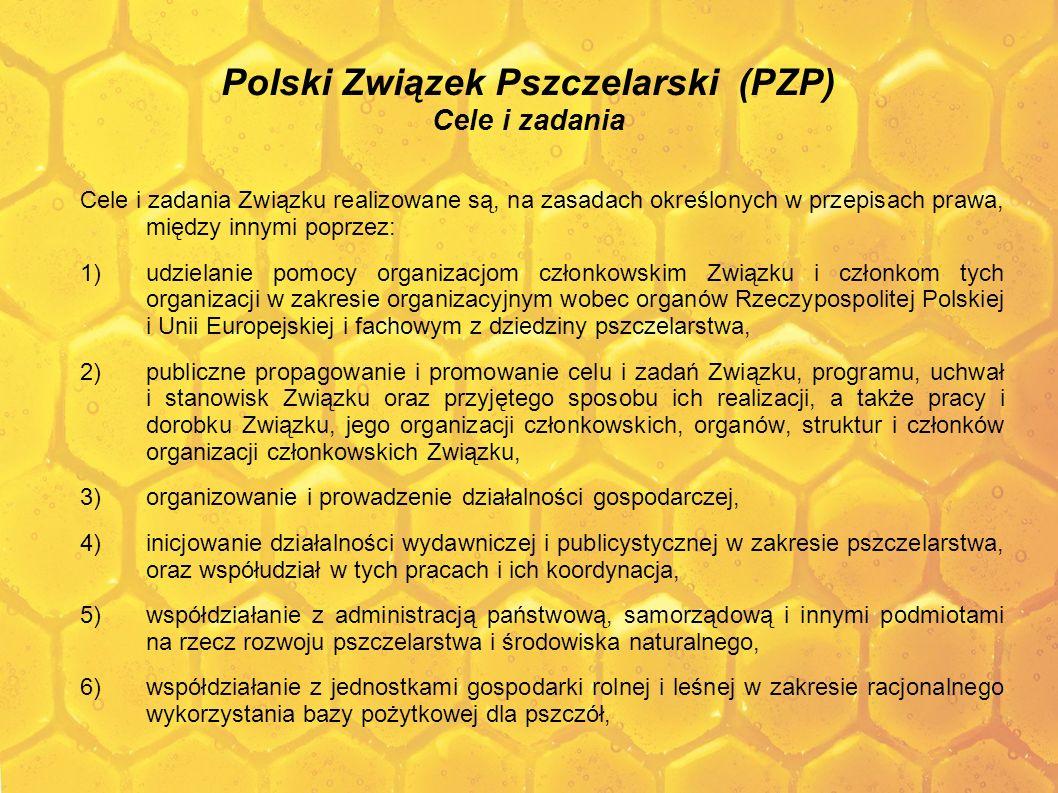 Польский Союз Пчеловодов (PZP) Для достижения целей Союз ставит перед собой следующие задачи: 1.
