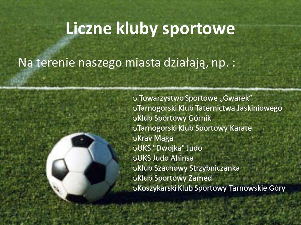 Liczne kluby sportowe Na terenie naszego miasta działają, np.