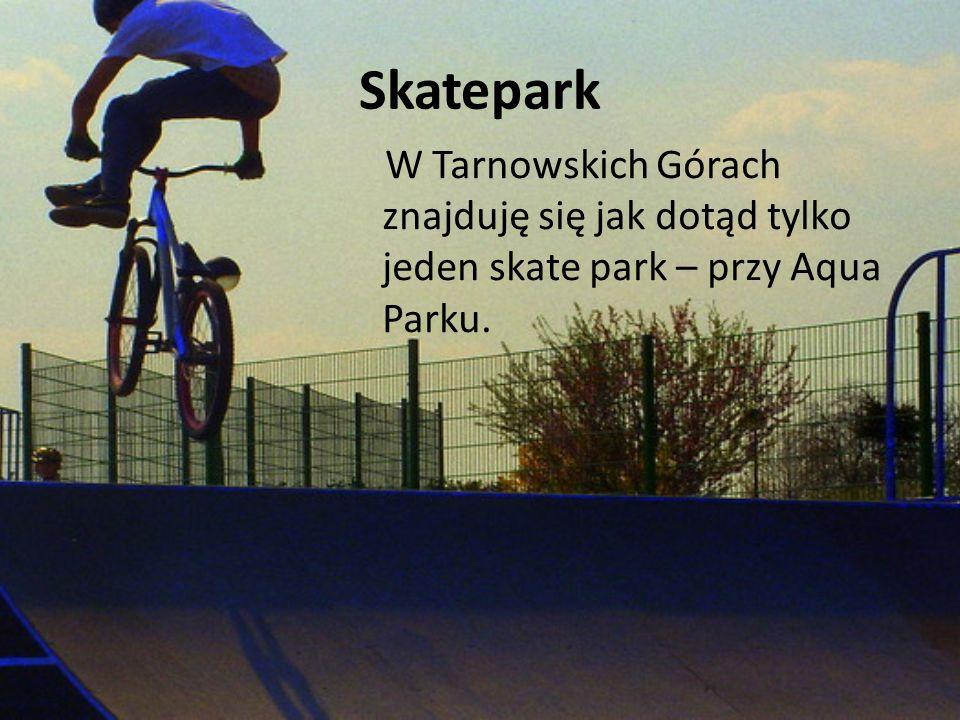 Skatepark W Tarnowskich Górach znajduję się jak dotąd tylko jeden skate park – przy Aqua Parku.