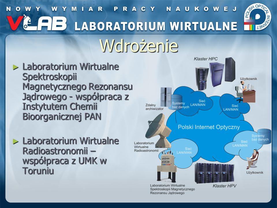 Wdrożenie Laboratorium Wirtualne Spektroskopii Magnetycznego Rezonansu Jądrowego - współpraca z Instytutem Chemii Bioorganicznej PAN Laboratorium Wirt