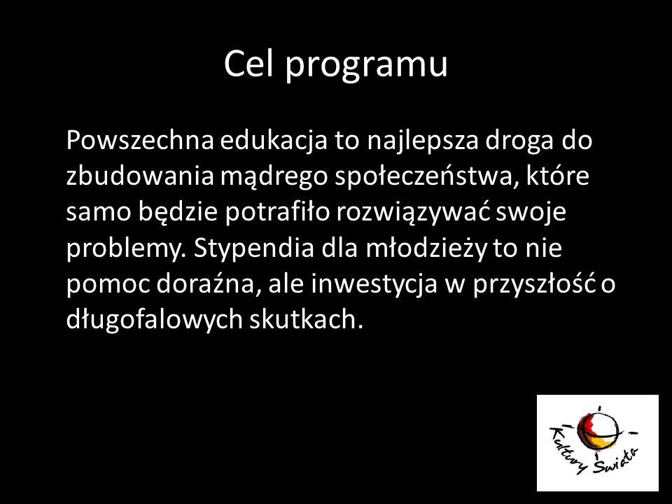 Cel programu Powszechna edukacja to najlepsza droga do zbudowania mądrego społeczeństwa, które samo będzie potrafiło rozwiązywać swoje problemy. Stype