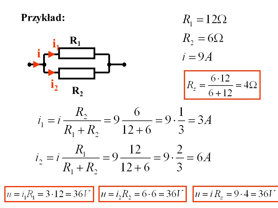 Przykład: i i1i1 i2i2 R1R1 R2R2