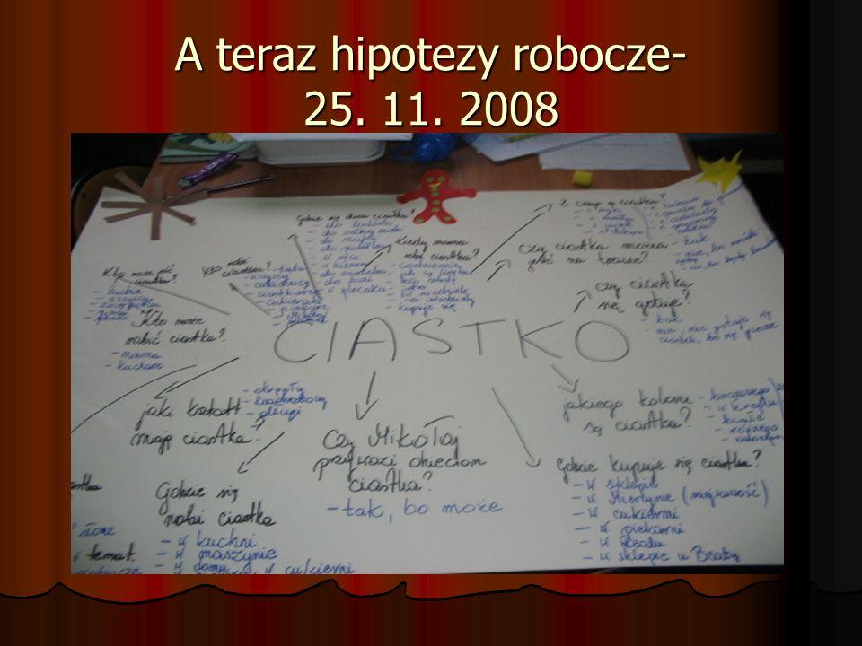 A teraz hipotezy robocze- 25. 11. 2008