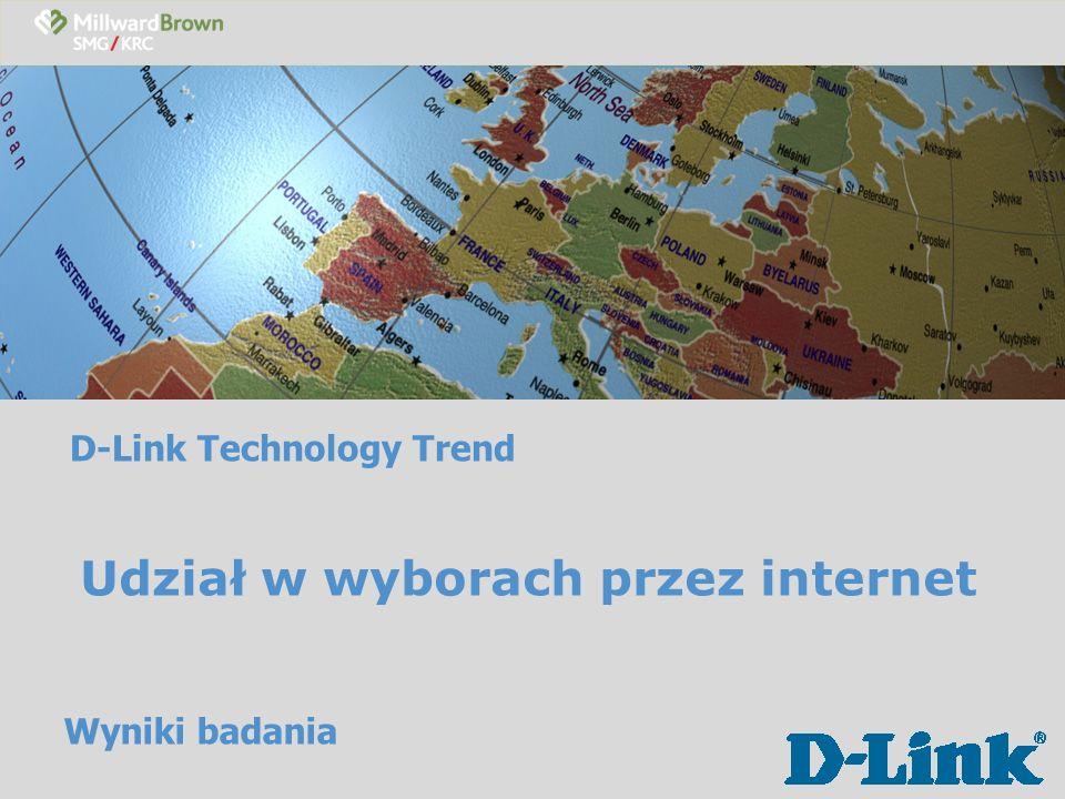 D-Link Technology Trend Korzystanie z i nternetu Czy korzysta Pan(i) z internetu.