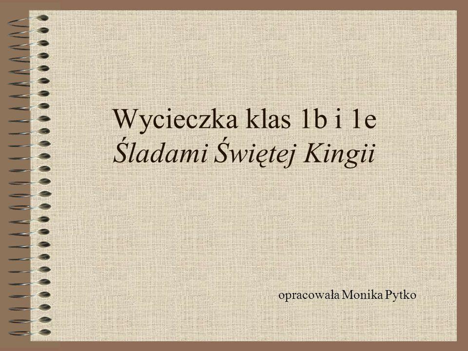 Wycieczka klas 1b i 1e Śladami Świętej Kingii opracowała Monika Pytko